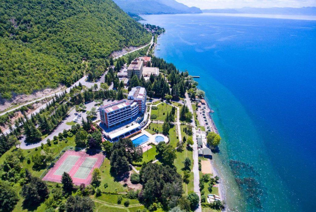 Hotel en el Lago Ohrid de Macedonia