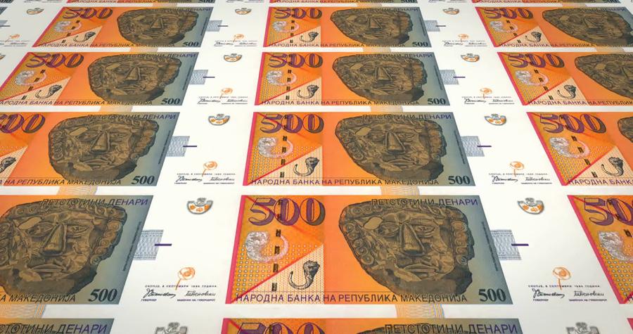 Billetes de Denar Macedonio, la moneda oficial de la República de Macedonia