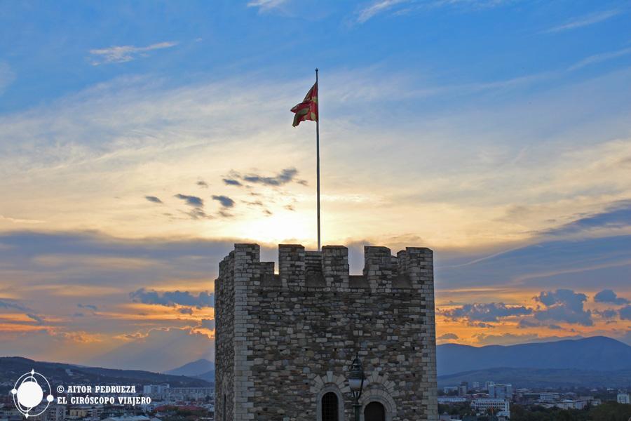 Atardecer desde la fortaleza Kale de Skopje