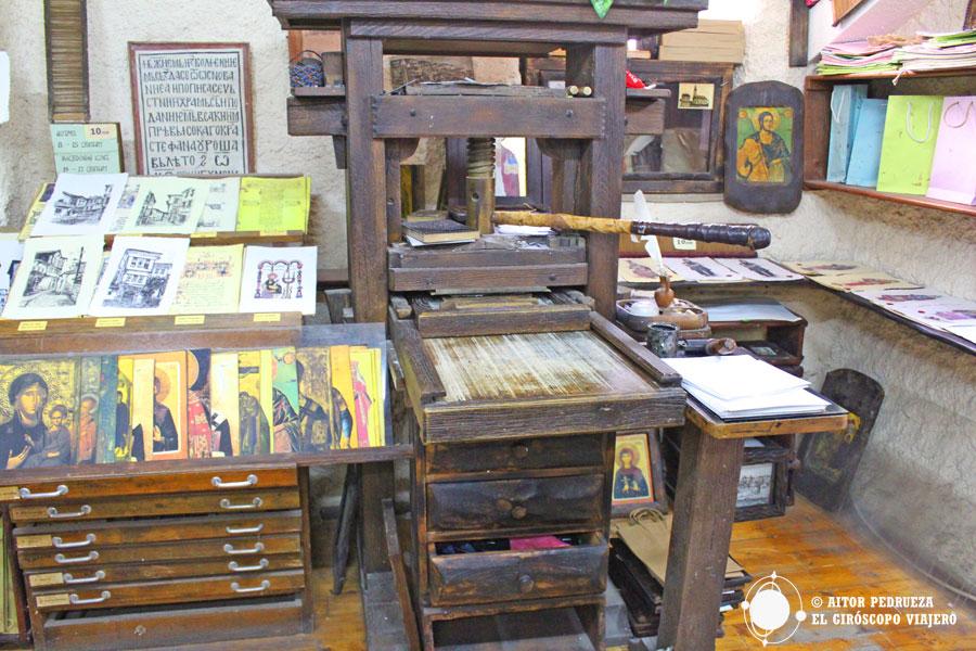 Taller nacional de papel con su imprentas original deGutenberg