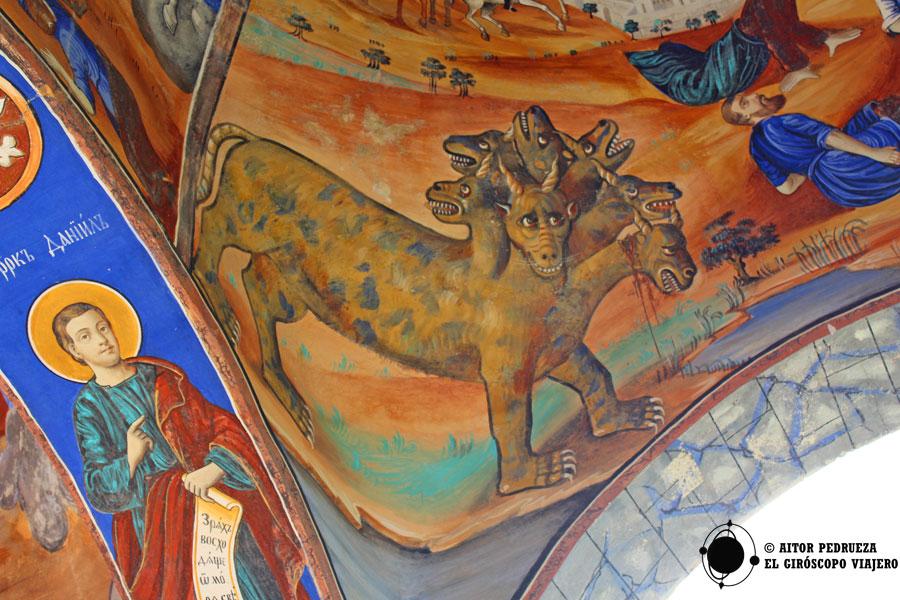 Fresco en el monasterio de Saint Joachim Osogovski