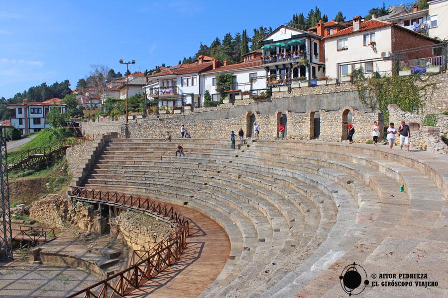 Antiguo teatro de Ohrid